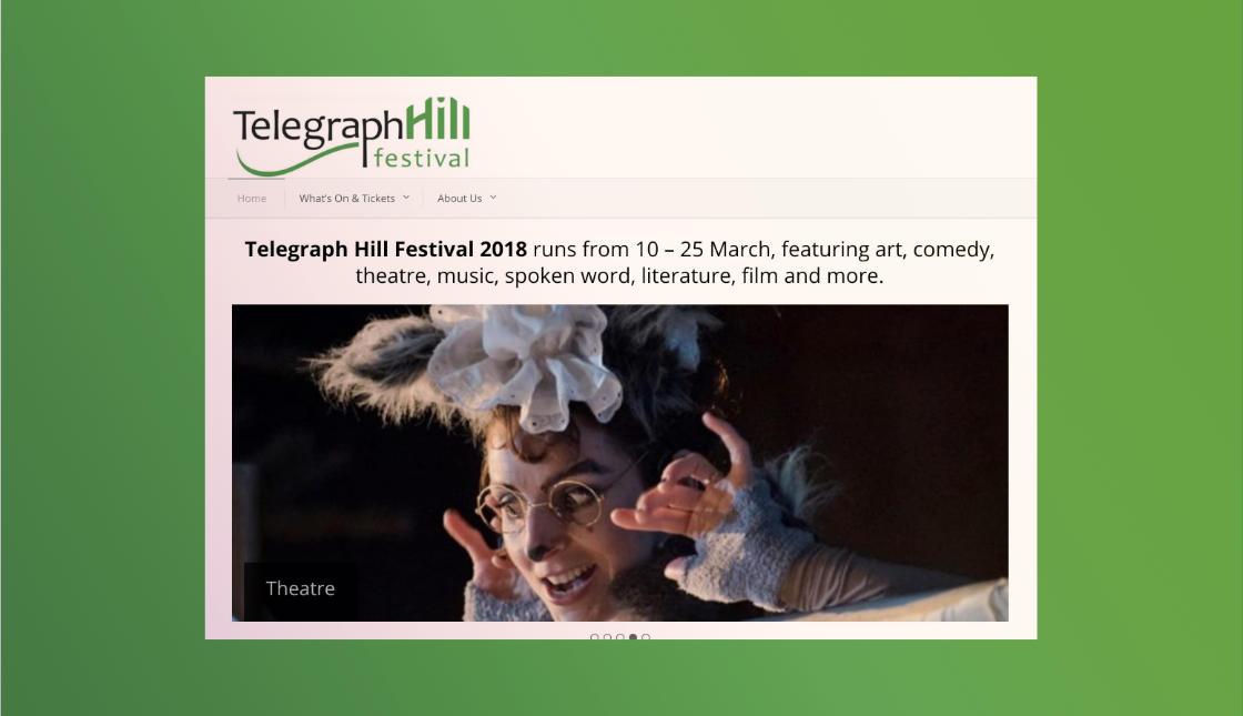 elegraph Hill Festival website screenshot