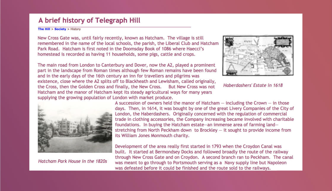 Telegraph Hill Society website